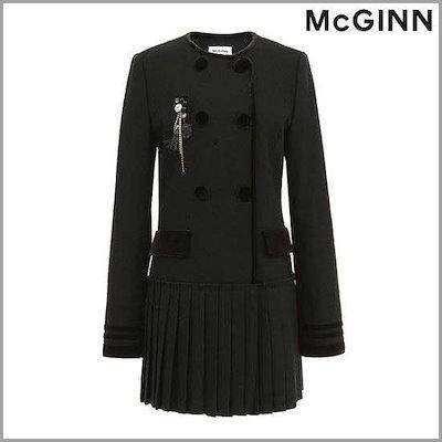 [メギンナイッブリッジ]の裾・プリーツロングジャケットMH1WJ181 /テーラードジャケット/ 韓国ファッション