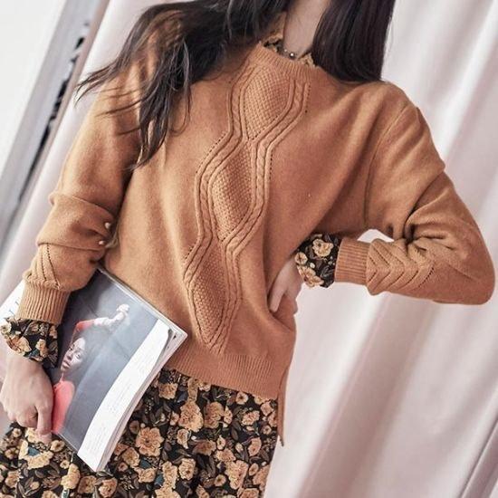 ブルランチョアンバランスニットティーnt01706 ニット/セーター/ニット/韓国ファッション