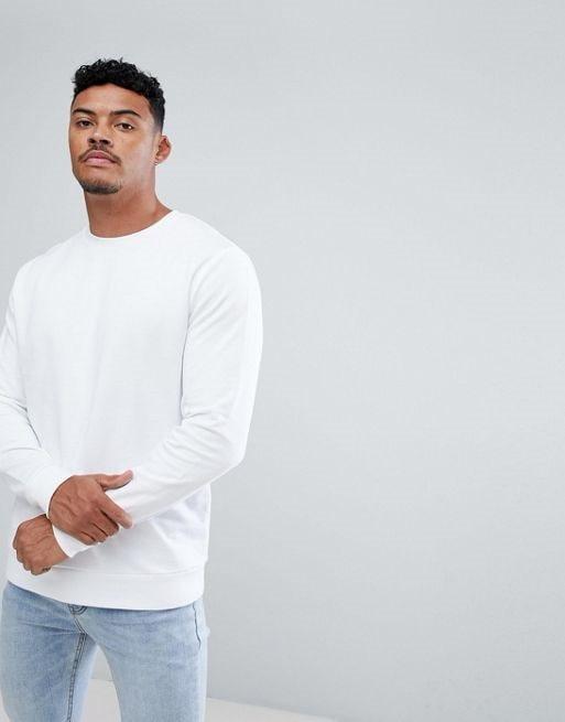 ASOS Sweatshirt In White