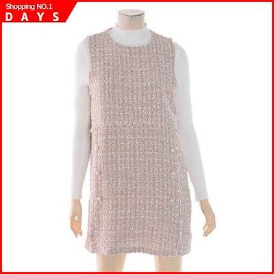 ルシャプNC02晋州ビュスチェ・ツイードワンピースLI1OP603A[19943991210] /ワンピース/綿ワンピース/韓国ファッション