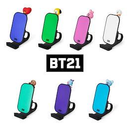 BT21 ワイヤレス 充電 デスク スマホホルダー ラインフレンズ公式 正規品 ★送料無料★