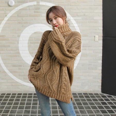 [Tom n Rabbit]レビットポーラニットタートルネックルーズフィットデイリーベーシックkorean fashion style