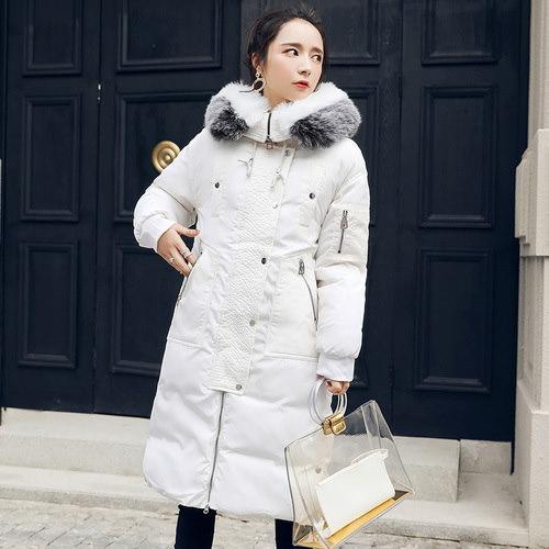 送料無料新型棉服2017秋冬、女子は長めの棉服、冬棉服コート