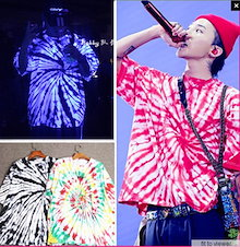 【SUPER SALE★】翌日発送【高品質カラー 】 BIGBANG G-Dragon 絞り染めTシャツ PEACEMINUSONE PMO TIE-DYE T-SHIRT g-dragon ファッ