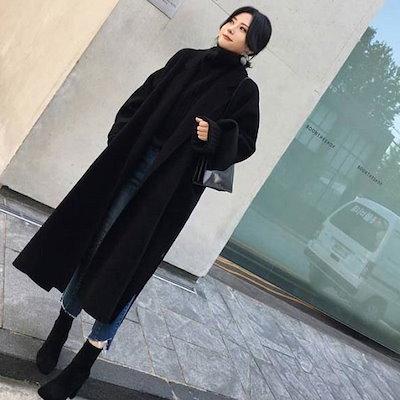 ヘプバーン風 ロングコート アウター コート ロング丈 秋冬 レディース オフィス 通学 デイリー r0228