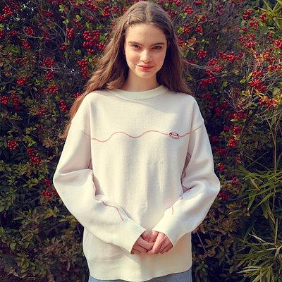 MAIN BOOTH韓国ファッションブランドMAIN BOOTH公式販売店ASELLER 19SSシーズン Vine Sweater(IVORY)