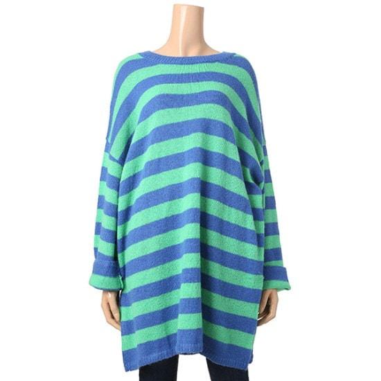 マロンジェイアルパカレゴNTJC11NT021A ロングニット/ルーズフィット/セーター/韓国ファッション