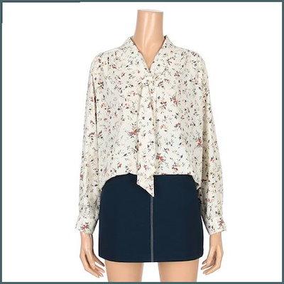 [チンウォンイエンシ、]ブイネクジャンコッ、スカーフ、ブラウス(ENBA91208Z) /ルーズフィット/ロングシャツ/ブラウス/ 韓国ファッション
