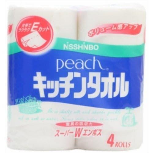 大王製紙 ピーチキッチンタオル 1パック(4...