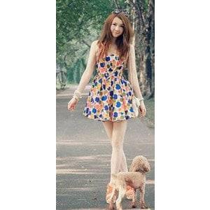 シフォンドレス ワンピース ドレス スカート ドット ノースリーブ 夏 tm206