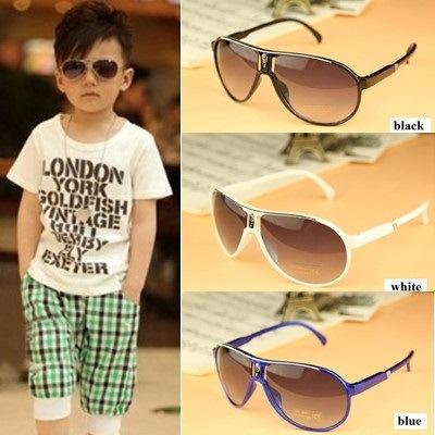 Qoo102018子供たちは夏のファッションの子供はアビエーターシェイプUV400保護眼鏡めがねサングラスサングラス男の子女の子