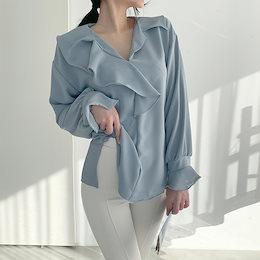 ✨DRESSCAFE✨[韓国ファッション] ♥ Limited item!♥ (4color)フリフリフリルブラウス