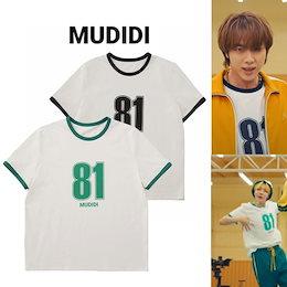 💜BTS JIN 着用J HOPE💜[MUDIDI] Oversize numbering t-shirt 002  Butter MV オーバーサイズ ナンバリング Tシャツ