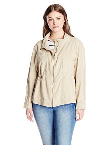 Unionbay Womens Plus-Size Bryce Jacket, Beige, 3X