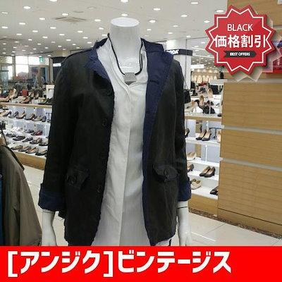 [アンジク]ビンテージスタイル両皮ジャケット /デニムジャケット/ジャケット/韓国ファッション