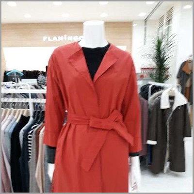 ベルトロングジャケットf3081040 /テーラードジャケット/ 韓国ファッション