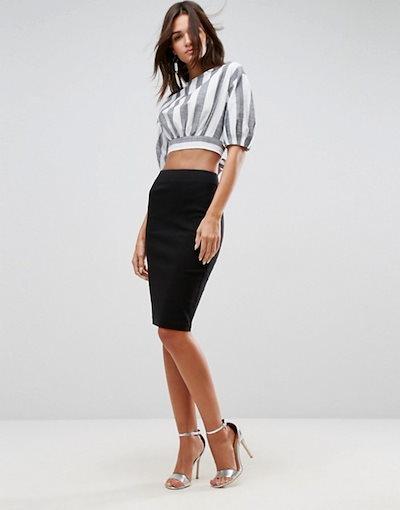 エイソス レディース スカート ボトムス ASOS DESIGN high waisted pencil skirt