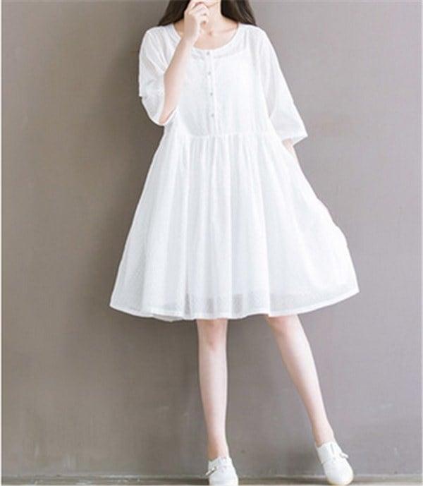 レディースワンピース リネン 無地 ファッション ハイセンス 上質 着心地いい 大人気 おしゃれ 夏 スリム セール★ レディースワンピース