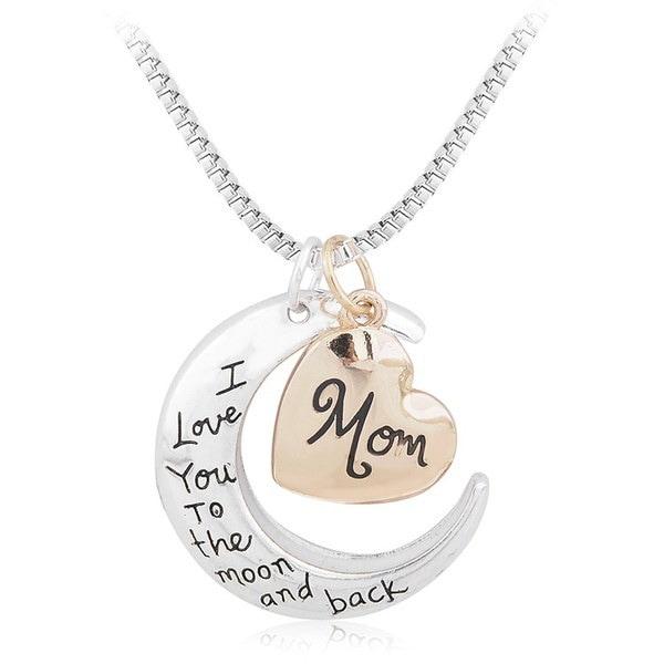 素敵なファッション流行の母の日の贈り物の月とラブネックレスの母のペンダントネックレス