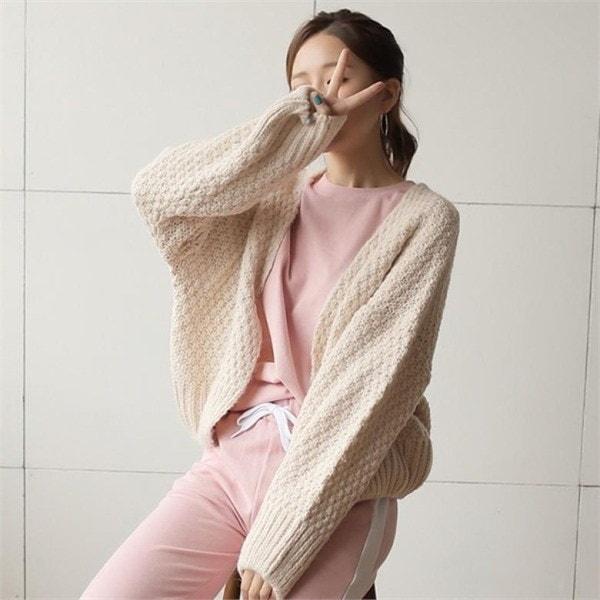 バードカディゴンnew 女性ニット/カーディガン/韓国ファッション