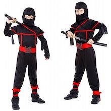 ハロウィン 仮装 ハロウィン 衣装 子供 コスプレ 男の子 忍者 スパイ  キッズ コスプレ ハロウィン