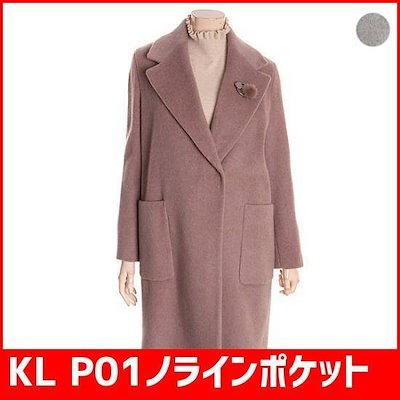 KL P01ノラインポケットウールのコートKWHCIK1100[19631851101] /ポコート/コート/韓国ファッション