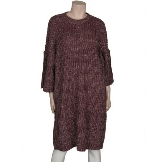 ディデムボカシロングワイドニートLK1610406 ロングニット/ルーズフィット/セーター/韓国ファッション