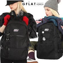 【GFLAT】 K100-BACKPACK 💖学生、女性生活用バックパック💖/ポケットが多く、歌声非最高/リラックスして実用性のあるバッグ/韓国ファッション