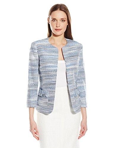 Kasper Womens Tweed Flyaway Jacket, Marine Multi, 14