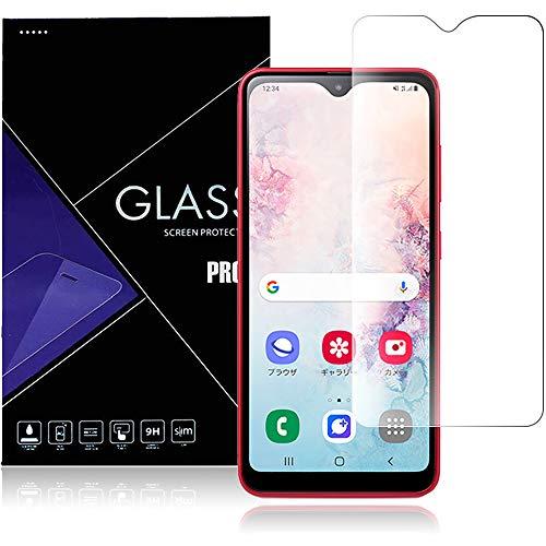 Galaxy A20 フィルム 強化ガラス 液晶保護フィルム Galaxy A20 SC-02M/au SCV46 厚さ0.33� 硬度9H 気泡ゼロ ガラス飛散防止 指紋防止高精細 表裏面保護