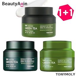 TONYMOLY ★ 1+1 ★ The Chok Chok Green Tea Watery Intense Gel Cream 60ml Korea Cosmetic グリーンティー水分クリーム