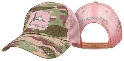 Womens John Deere Camo Hat Camo / Pink