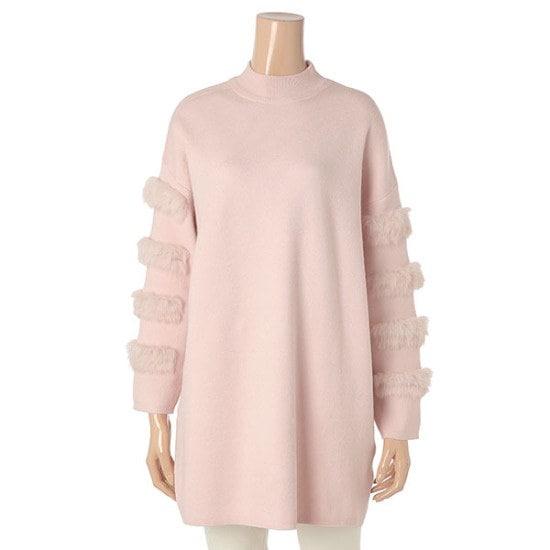 永嗣も、ル・ウサギの毛ニートA7WL128 ロングニット/ルーズフィット/セーター/韓国ファッション