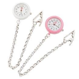 cb7c2604b62e3c ナースウォッチステンレスチェーン 懐中時計 看護士 医療 時計 ナースウォッチ