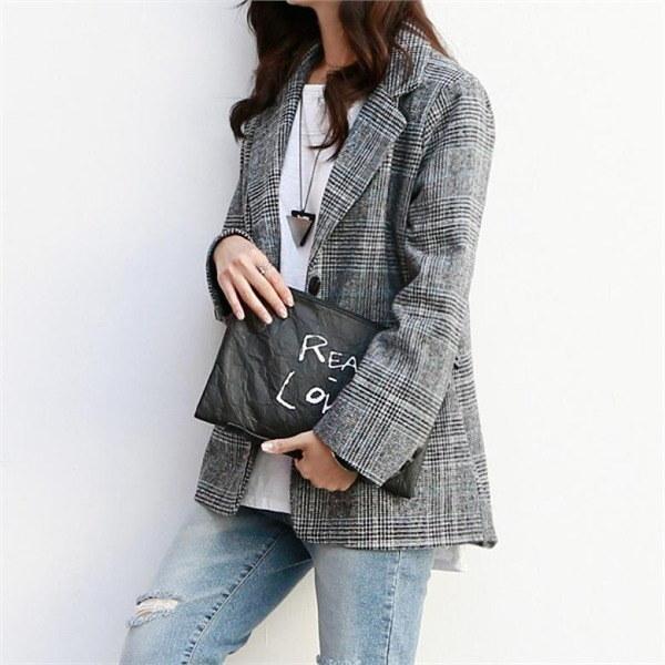 ナク21J01328トゥロディジャケットビッグサイズ 女性のジャケット / 韓国ファッション/ジャケット/秋冬/レディース/ハーフ/ロング/