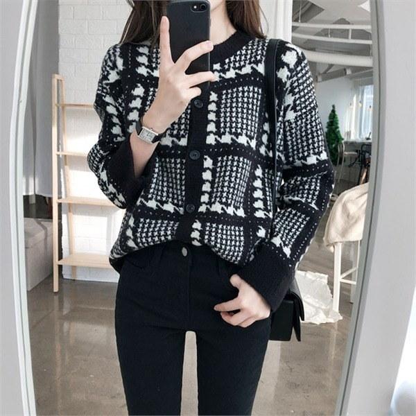 タイムブリッジカディゴンニートラウンドネックnew 女性ニット/カーディガン/韓国ファッション