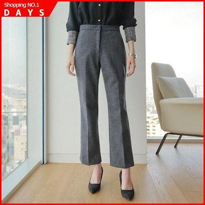 [スタイルベリー][行き来するように/スタイルベリー]グレイッシークレットバンディングポグンの起毛スラックス /パンツ/ スーツのパンツ/韓国ファム