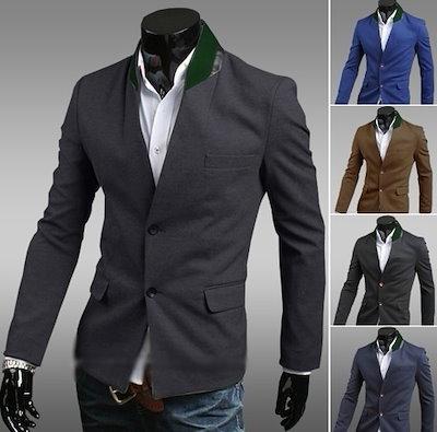 Slim-Fitting Men s Suits Jacket