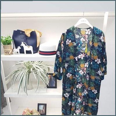 ファイン捺染・ローブカディゴンN18NJ82111 /女性ニット/カーディガン/韓国ファッション