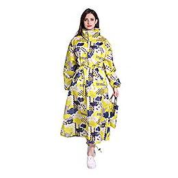 レインコート レディース 長い雨衣女性 自転車 通勤 通学 梅雨 雨具 防風 ファッション薄くて軽い 撥水性抜群 同色の収納ポーチ付き アウトドア用ウェア