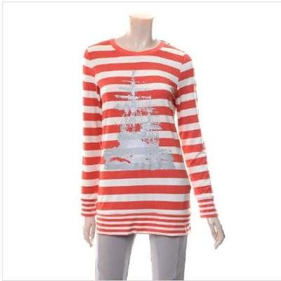 ベルラディタッチ・ストライプロングティーシャツ1342174 ストライプティーシャツ / T-shirt / 韓国ファッション