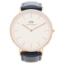 ダニエルウェリントン 時計 Daniel Wellington DW00600121 CLASSIC クラシック 40MM クォーツ レディース/メンズ 腕時計 ウォッチ ネイビー/ホワイト