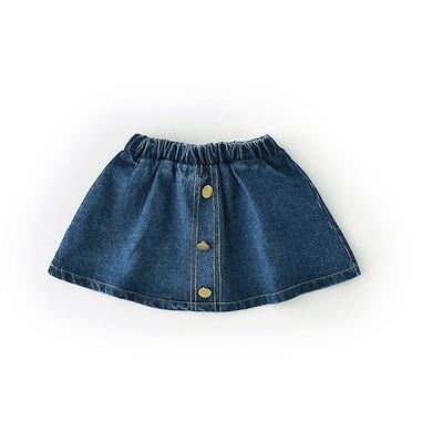 キッズ デニムスカート ショーツ ショートスカート デニム 半スカート 子供 女の子 小学生 中学生 ダンス 可愛い おしゃれ