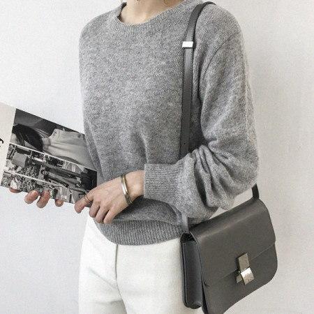 はいイルアンゴラニットKorean fashion style
