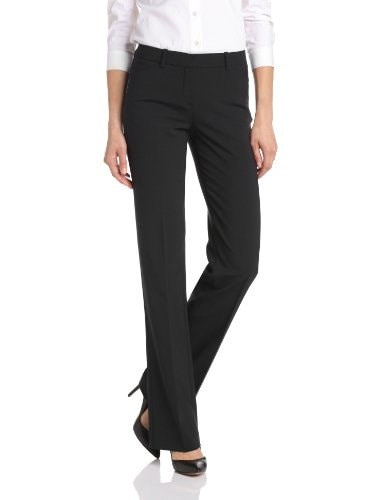 Theory Womens Max Urban Straight Leg Pant, Black, 4