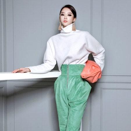 [ディントゥ] E-4264メタウールタートルネックニットトップkorea fashion style
