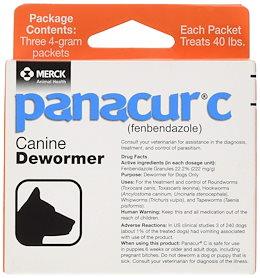 (犬 ヘルスケア) Panacur C Canine Dewormer Net Wt. 12 Grams Package Contents Three 4 Gram Packets
