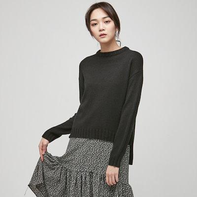 ナインNAINフロントアンバランスニートT3418 ニット/セーター/韓国ファッション