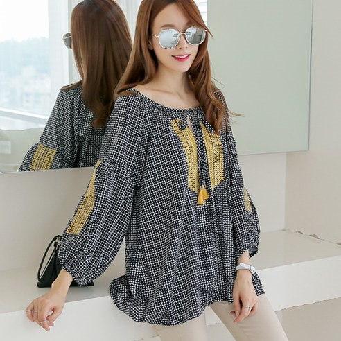 Mayissa pointed embroidery korean fashion style