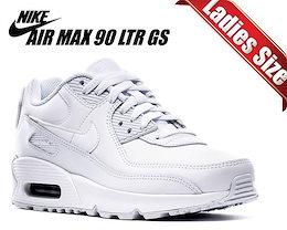 【ナイキ エアマックス 90 レザー ガールズ】NIKE AIR MAX 90 LTR (GS) white/wht-metallic silver cd6864-100 ホワイト スニーカー